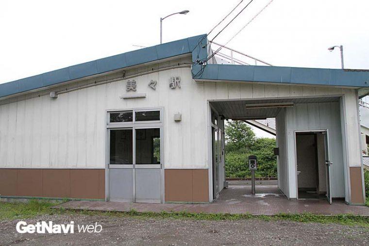 ↑シンプルな美々駅。待合室とトイレがあった。ICカード機能が付く駅で全国初の廃止駅だとされる