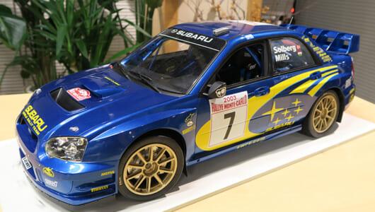 「日本カー・オブ・ザ・イヤ」を受賞したインプレッサの名作が1/8にーーパッと見は実車のWRC2003そのもの!