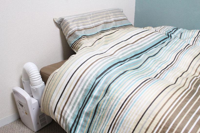 ↑コンパクトなので収納場所を選ばないのも特徴。ベッドサイドに置いておけば、いつでも使えます