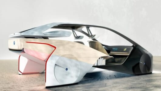 後部座席に本棚? これがBMWの考える完全自動運転車だ!【CES2017】