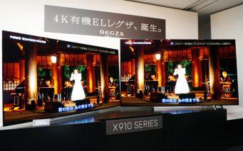 ↑4K有機ELレグザ「X910シリーズ」。左が55X910、右が65X910