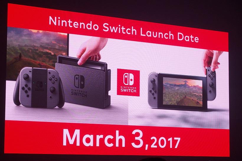 ↑Nintendo Switchの発売日は3月3日