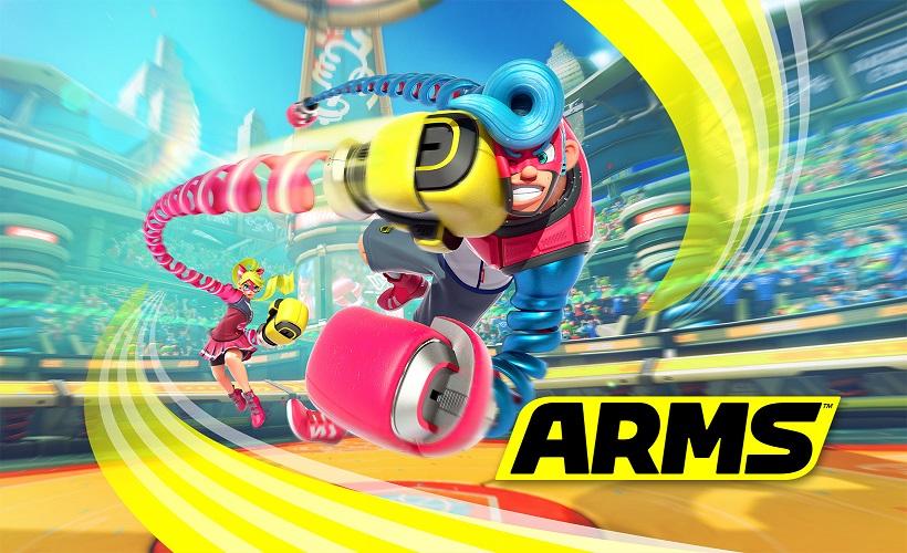 ↑Nintendo Switchオリジナルタイトルの「ARMS」