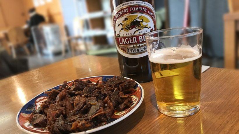 ↑ちなみに熊本では予定調和どおり飲みまくりましたよ、ハイ。 (創業140年を超える、山本屋食堂にて)