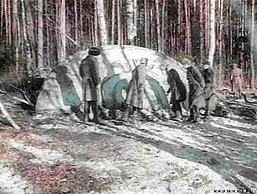 ↑ダリネゴルスク村に墜落したUFO