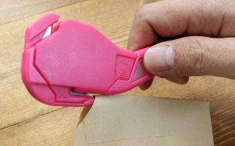 ↑サブ刃で切り開いた穴にメイン刃を挿し込んでカット