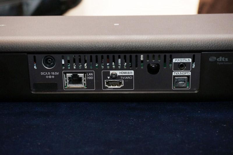 ↑MT500の背面端子部。HDMI出力を備えた