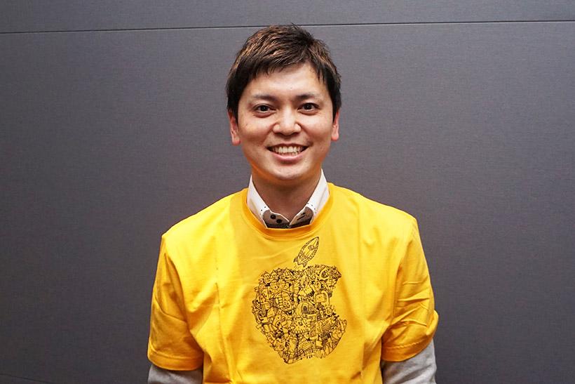 ↑6年生の担任、薄井直之先生。古河市教育委員会が任命したICTエバンジェリストで、時折、アップルで研修も受けているそうです