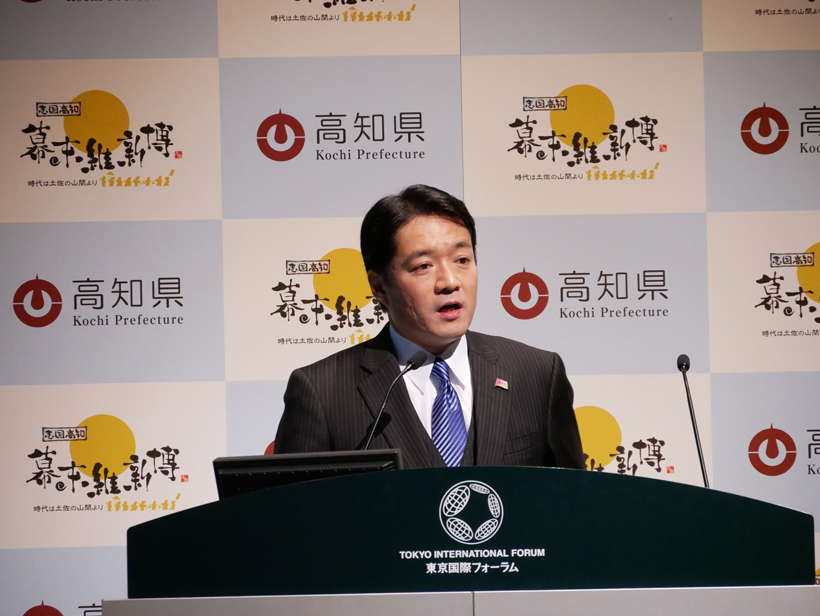 ↑尾崎正直高知県知事