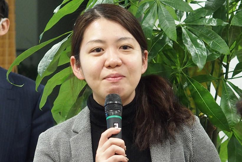 ↑イベントには当然、ロボホンの母、シャープ株式会社 コミュニケーションロボット事業部商品企画部 課長の景井さんも来ていました