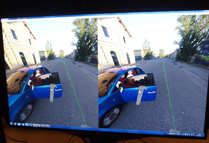 ↑フロントガラスやドアガラスに映った風景に注目。風景を変更すると、車の映り込みも瞬時に変化します。CPUで描写するとより精密な映像を写し出せますが数時間かかってしまいますが、GPUを使うことで、CPUほどではないにしろ高い画質で瞬時に表示ができるとのことです
