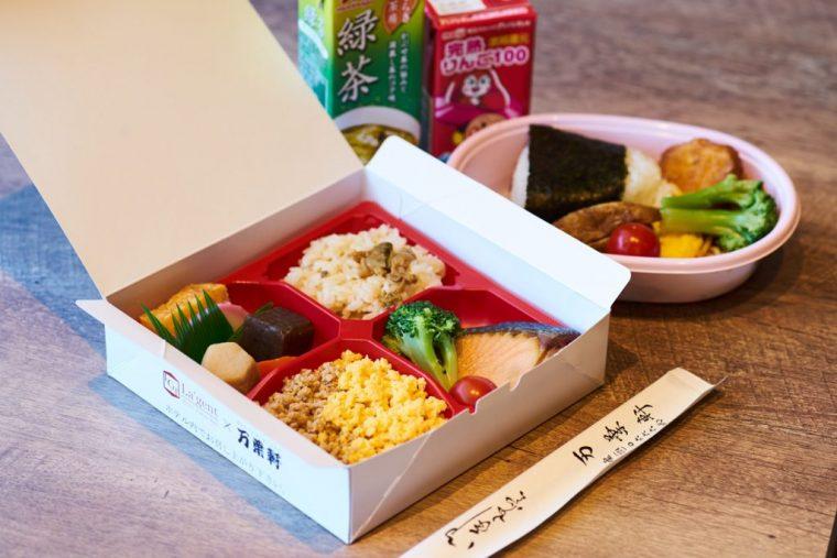 ↑朝食はお弁当を無償提供。この日は千葉の老舗駅弁屋「万葉軒」。(内容は変更になる場合があります)