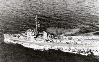 ↑実験に使用された駆逐艦エルドリッジの同型艦