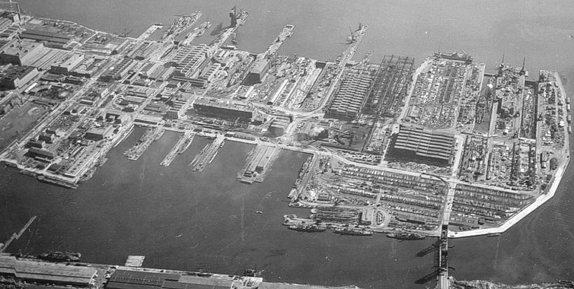 ↑フィラデルフィアの海軍工廠