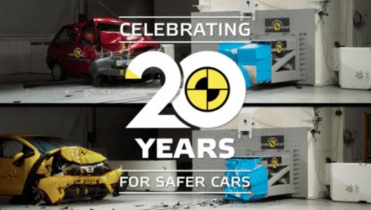 20年で安全性はどれくらい進化した? ユーロNCAPが新旧2台をクラッシュテスト!【動画】