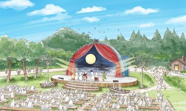 ↑ムーミンと北欧のテーマパーク「メッツァ」イメージ