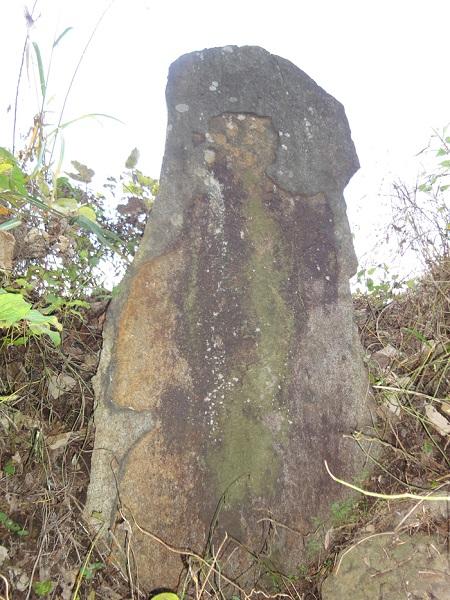 ↑「鬼の立石」。高さ2メートルはある