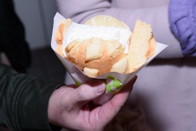 ↑メロンパンアイス パイン(450円)