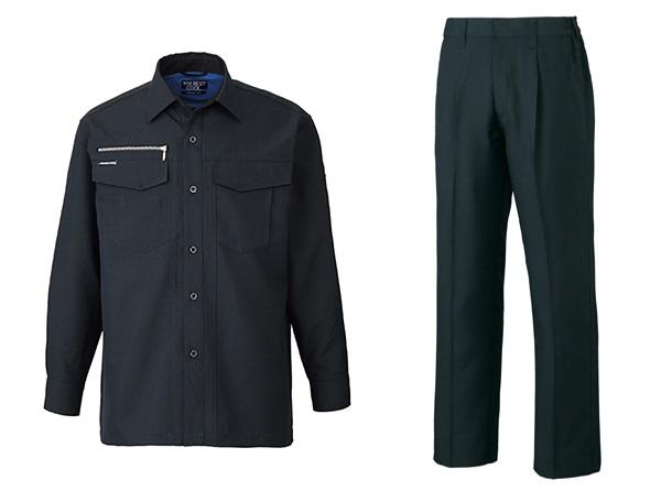 ↑「G-Cool長袖シャツ」(左)と「G-Coolスラックス 」(右)