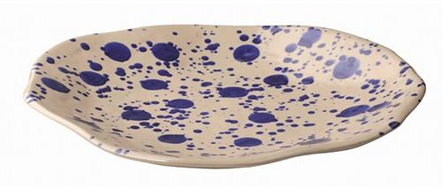↑プレート(オフホワイト/ブルー φ26㎝)/599円