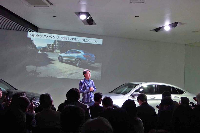 ↑「POLA TALKER'S TABLE FEAT.WE/」の発表に先立ち、メルセデス・ベンツ7番目のSUV「GLCクーペ」が発表された