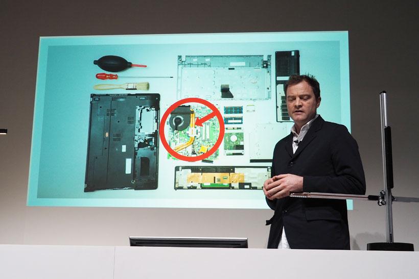 ↑ノートパソコンの冷却システムにインスピレーションを得たとのこと