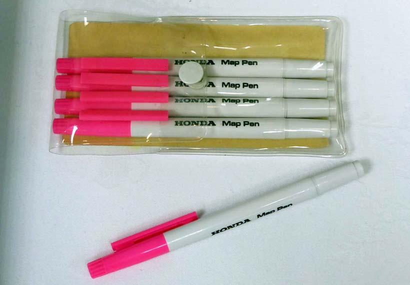 ↑マーキング用として何度でも消せるマーカーペンを開発したのは三菱鉛筆