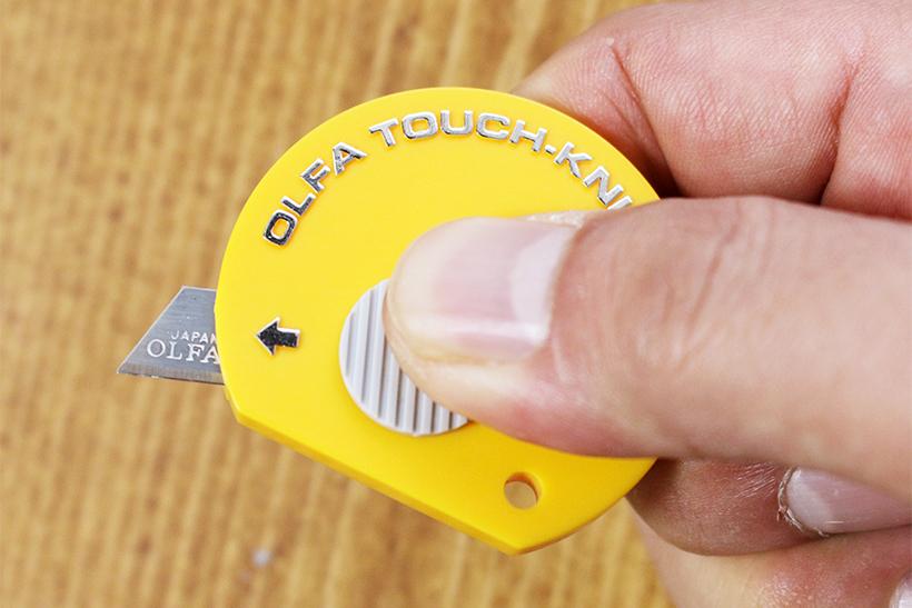 ↑薄くて手軽に使えるミニカッターの名器