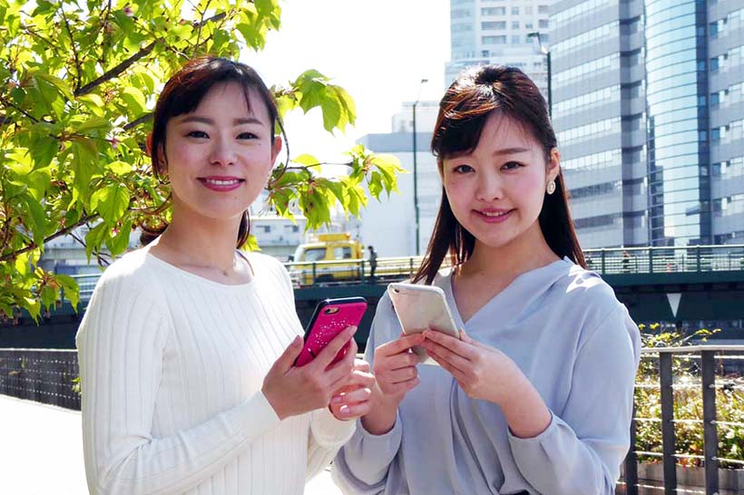 ↑「Amanekチャンネル」のナビゲーターをつとめる沖津那奈さん(左)と真野淑實さん(右)