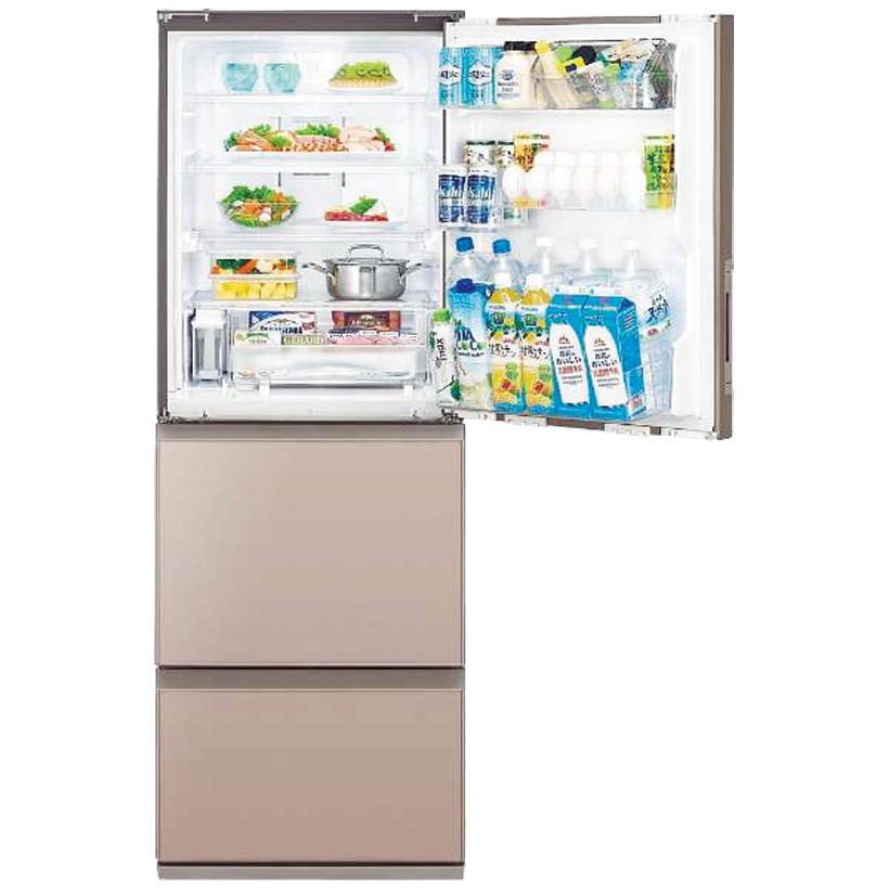 ↑●定格内容積:350ℓ●冷凍室容積:99ℓ●年間消費電力量:335kWh/年●庫内浄化機能:プラズマクラスター●サイズ/質量:W600×H1690×D660㎜/70㎏