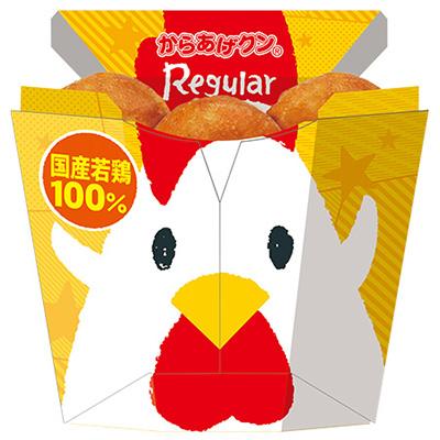↑鶏をモチーフにしたキャッチーな姿。パッケージも自立型に進化しました