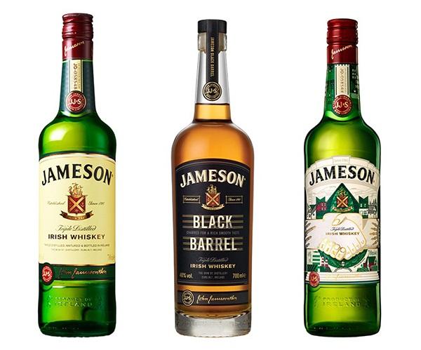↑左から「ジェムソン オリジナル」、「ジェムソンブラック・バレル」、記念ボトル「ジェムソン セント・パトリックス・デー リミテッド 2017」