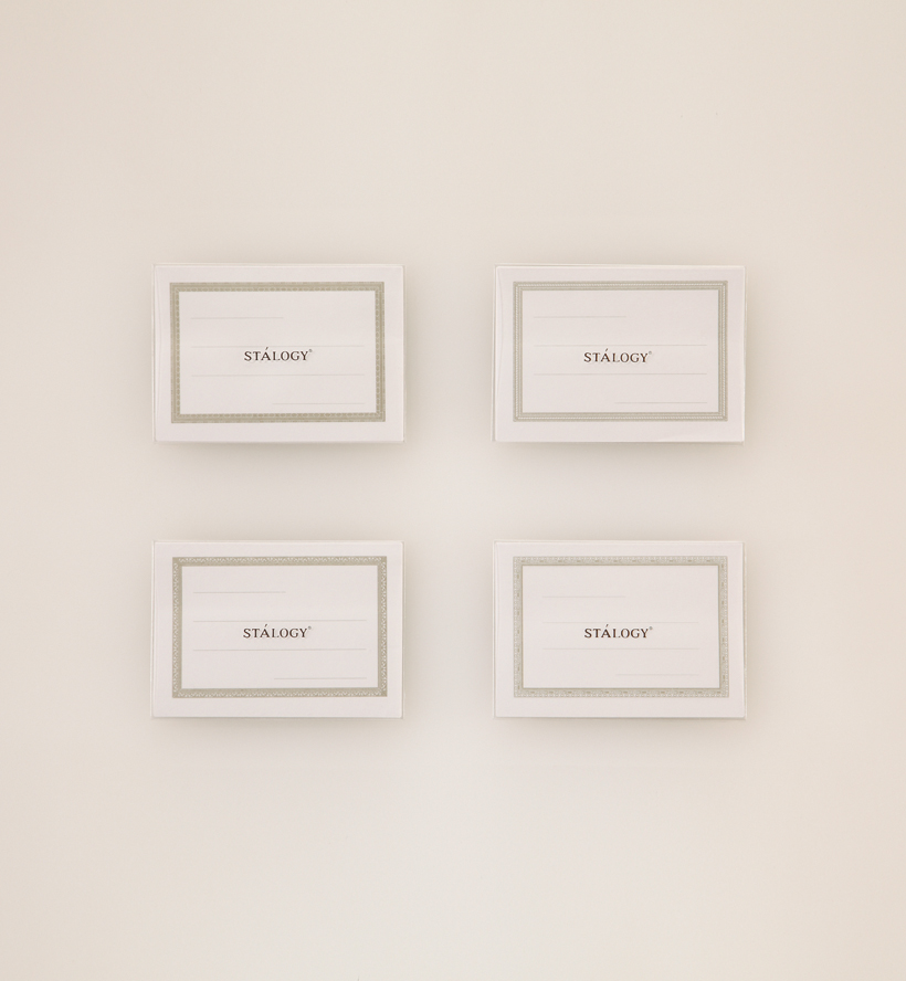 ↑全部で4種類。左上から時計回りにパブロ・ピカソ、セザンヌ、ダ・ヴィンチ、フェルメールの名画の額縁をイメージ