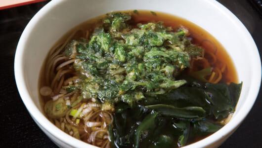 【立ち食いそば】めんの食感、比類なし! 旬の天ぷらそばと、なぜか焼きそばも名物の大師前「たからんちょ」