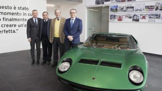 ランボルギーニのレストア部門が本格始動! クラシック車の価値を維持するための車両認定証も発行