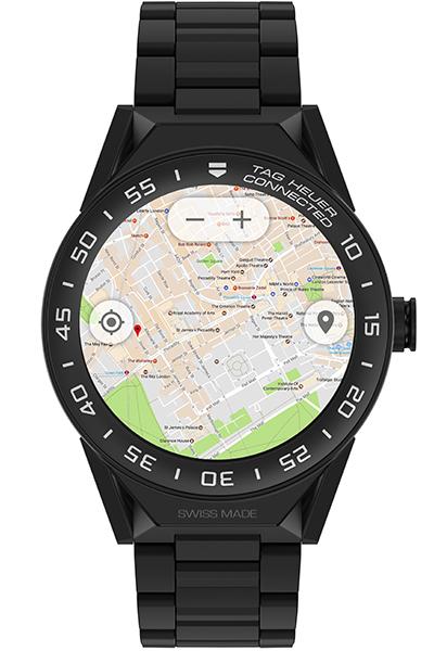 ↑地図アプリではかなり正確に現在地を捕捉。GPSの使用はバッテリーのもちが気になるところだが、約4時間のサイクリングでも問題なく使えた(時計としての使用だけだとまる1日はもつ)