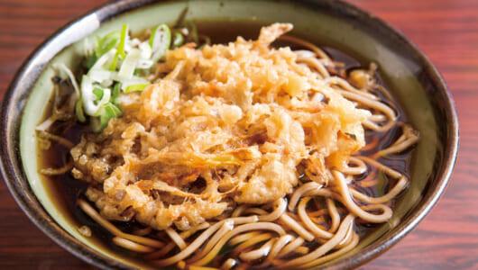 【立ち食いそば】しょうゆが効いた漆黒つゆがキリリとウマい! サクサク天ぷら、鶏ガラカレーも絶品の梅島「雪国」