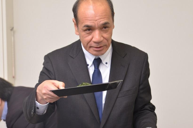 ↑福寿園茶匠・谷口良三さん。発売当初から、使用する茶葉の責任者を務める伊右衛門のマスターブレンダー