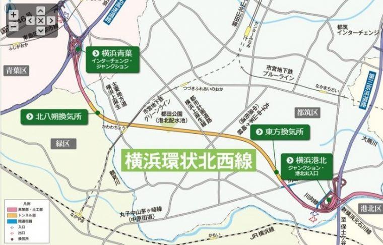↑さらに2020年には、第三京浜・横浜港北JCTから東名高速・横浜青葉JCTを結ぶ「ほくせいせん」が開通予定。これにより東名と横羽線がつながる(出典:「ほくせいせん 」公式サイト)