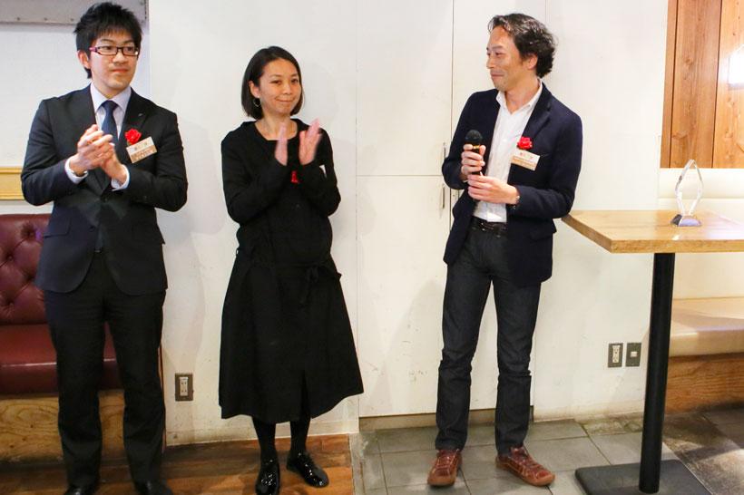 ↑左からダイキン工業の北村亮人さん、バルミューダの半澤直子さん、セールス・オンデマンドの徳丸順一さん