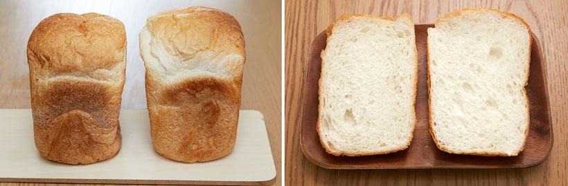 ↑実はレシピも焼き上がり時間もまったく一緒だった食パン。試食したところ、味もほぼ同じ……