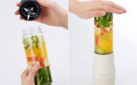 面倒なスムージー作りもラクラク! 作ったボトルをそのまま持ち運べる「ミニボトルブレンダー」