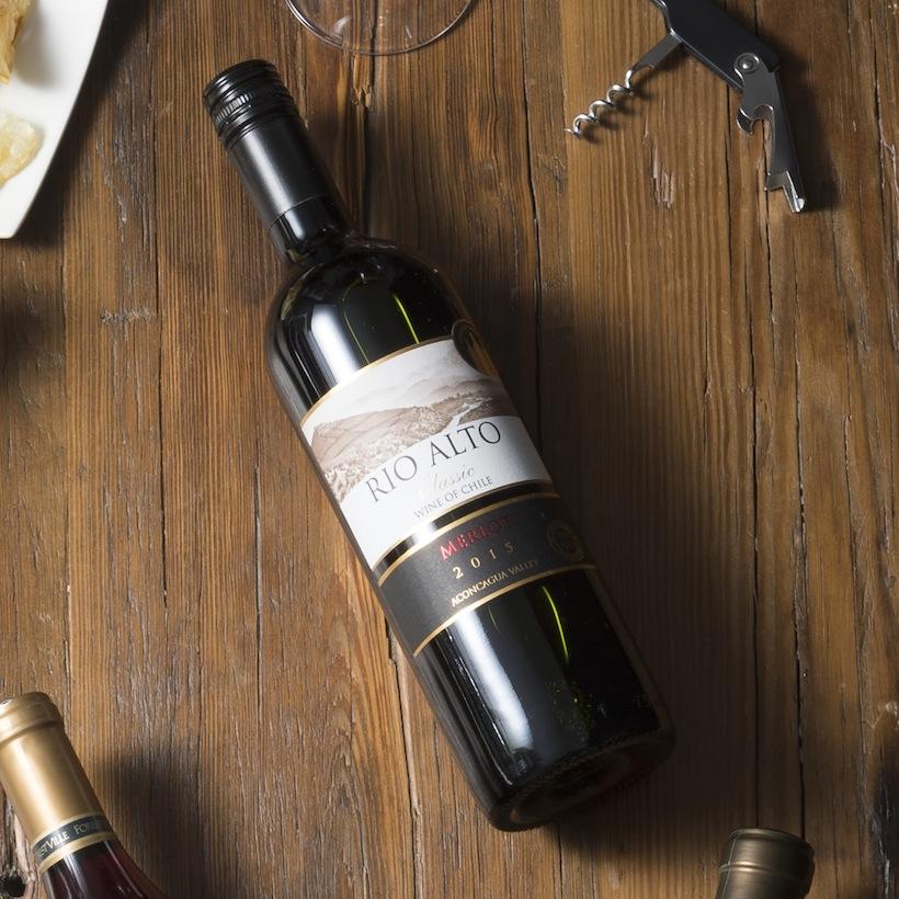 ↑チリの実力派ワイナリーの滑らかな赤ワイン【ワイングラス1杯(125ml)あたり133円】