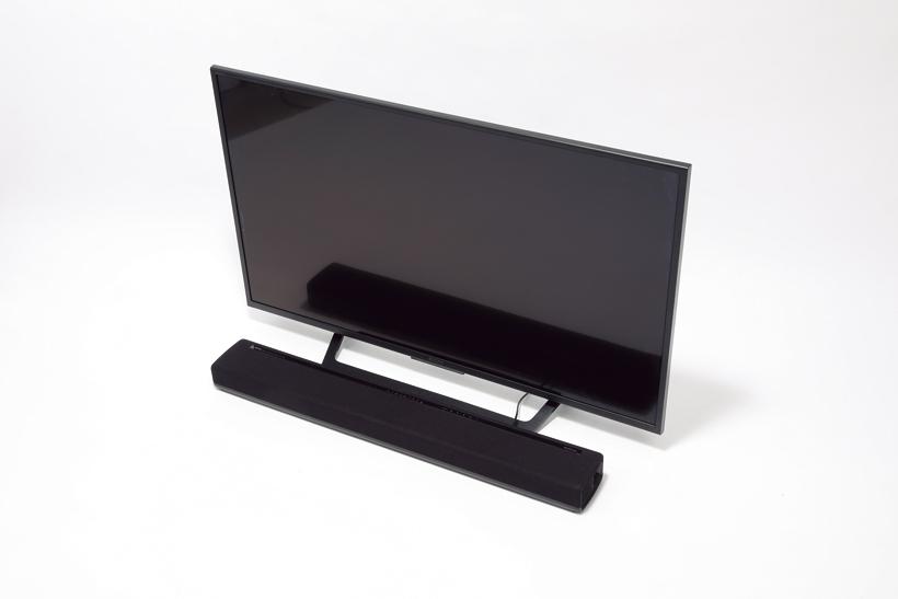 ↑テレビとは光デジタル、レコーダーとは同軸デジタル端子で接続。付属のスピーカーは別室に置いても、Wi-Fiでつなげる