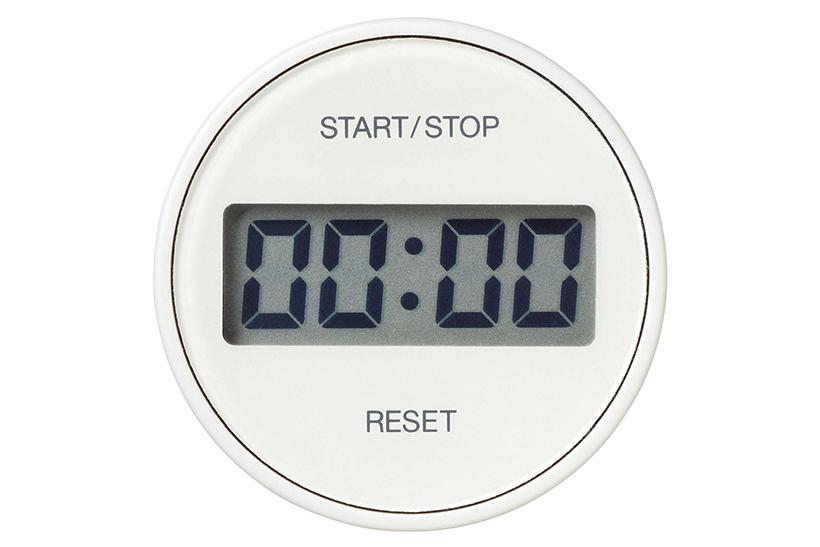 ↑時間がわかりやすいシンプルな表示が◎