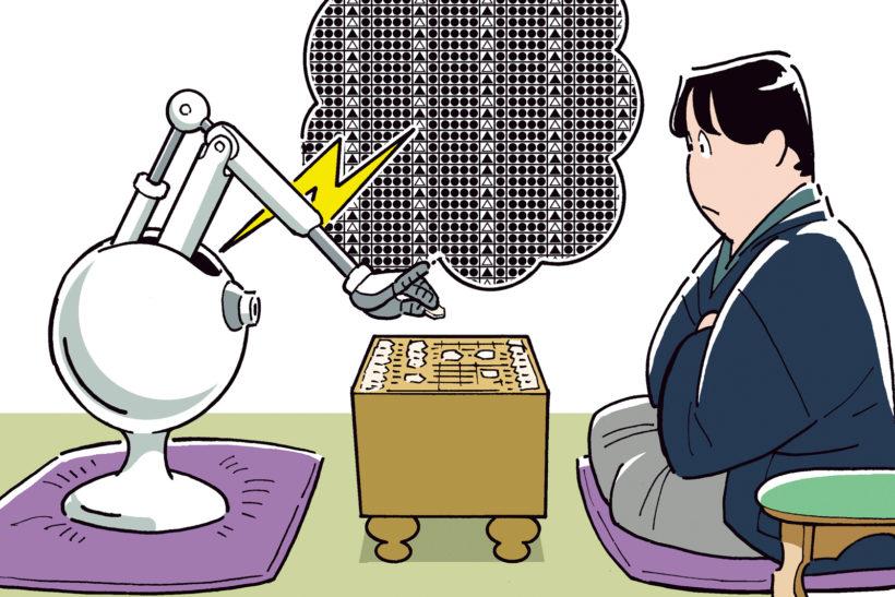 ↑AIは将棋ソフトなどでも活用。戦況を踏まえながら、蓄積された膨大なデータから最適な一手を導き出す