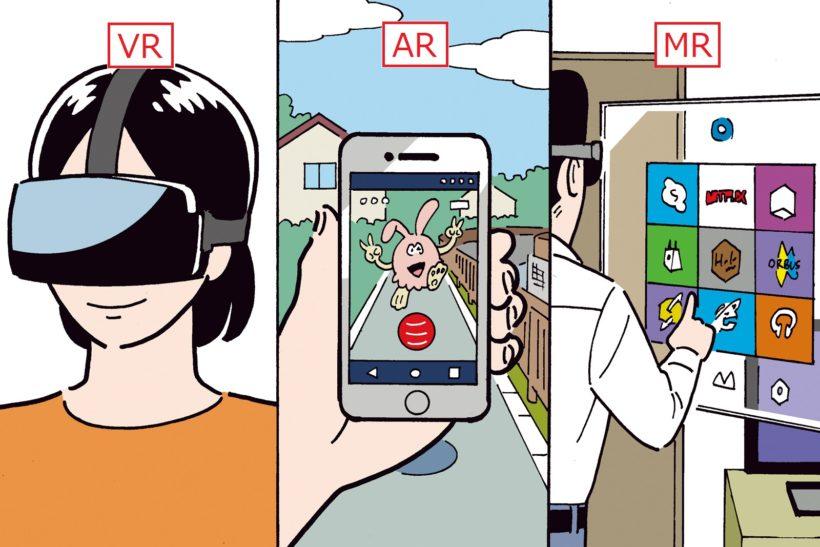 ↑ ARは「ポケモンGO」を、MRは映画「マトリックス」の世界をイメージするとわかりやすい