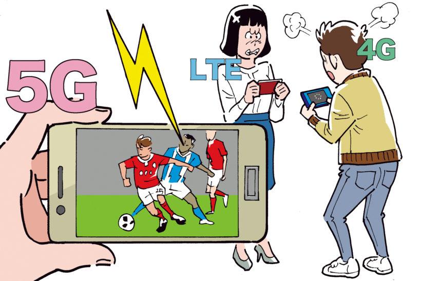 ↑ データ量の大きい4K映像のストリーミングもサクサク。スポーツ中継が止まって苛立つこともなくなる