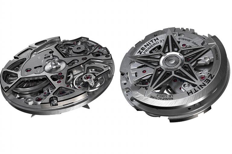 ↑計時用とクロノグラフ用の二つの独立した装置を持つエル・プリメロの新型Cal.9004