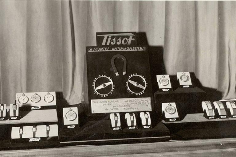↑1934年にティソがアンチマグネティックウオッチを発表していたことを示す資料